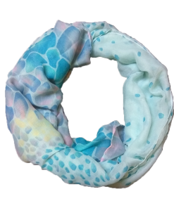 Women's scarf in color petroleum