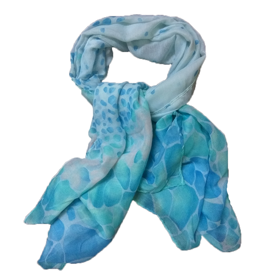 Women's scarf in color green