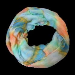 Γυναικείο φουλάρι εμπριμέ σε χρώμα ουρανί