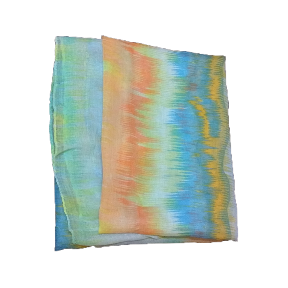Women's scarf in the color of the sky