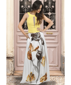 Maxi impressive skirt with cuffs