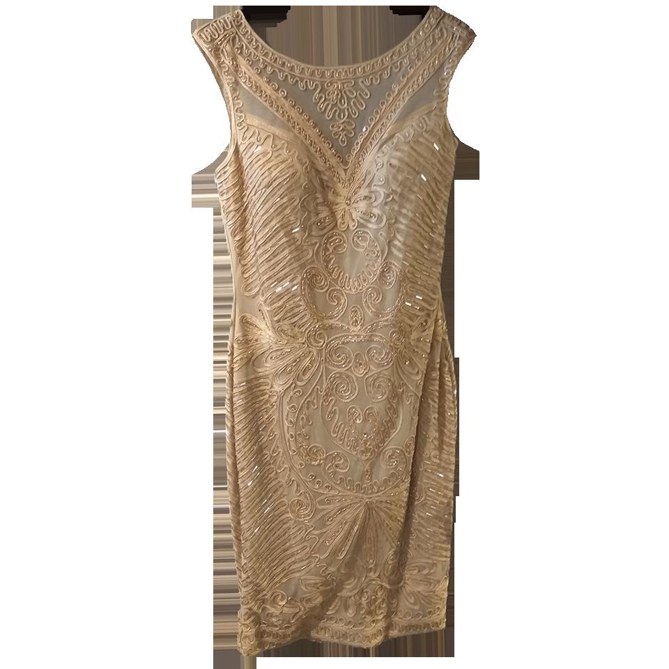 Αμάνικο κοντό φόρεμα χρυσό με strass