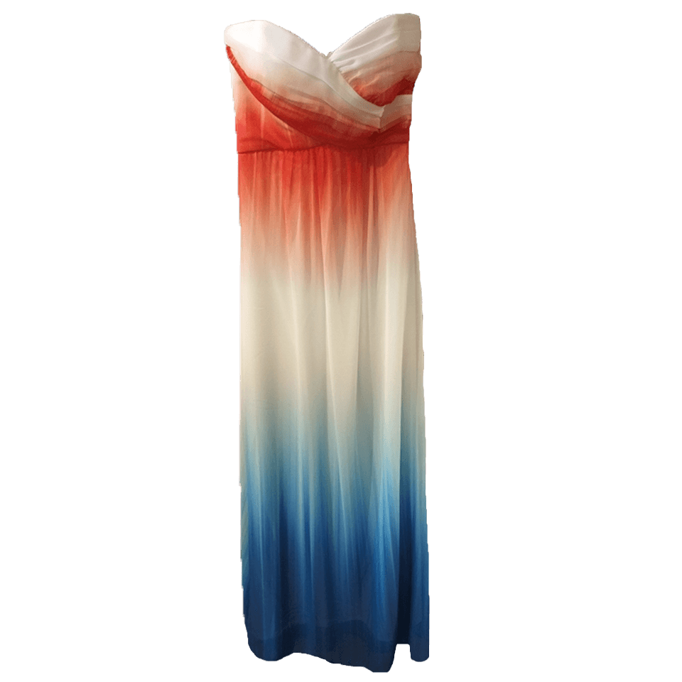 Maxi strapless dress with wonderful colors