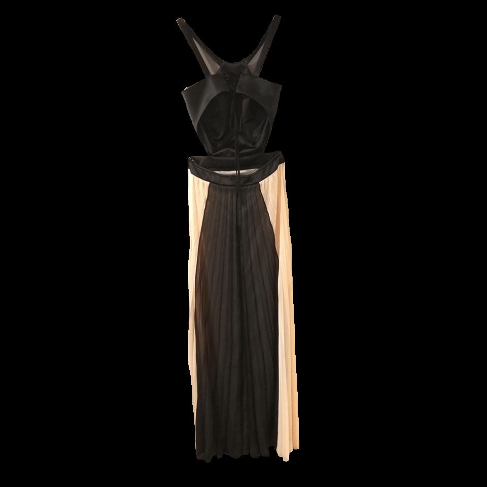 Maxi πλισέ φόρεμα με ανοίγματα στην μέση