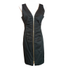 Sleeveless short dress with zipper front