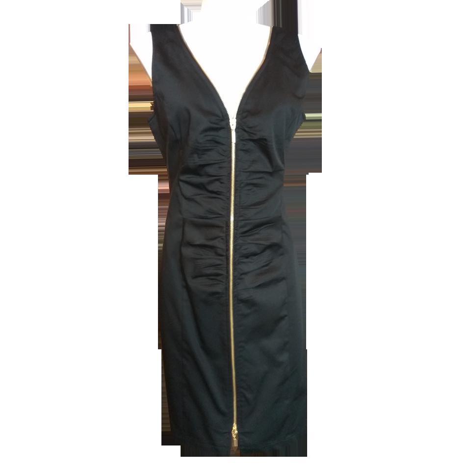 764c703bda85 Αμάνικο κοντό φόρεμα με φερμουάρ μπροστά
