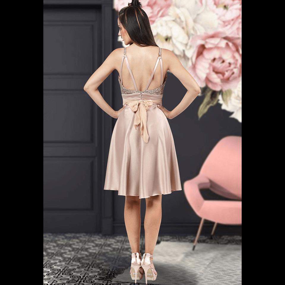 Mini φόρεμα με παγιέτες στο μπούστο