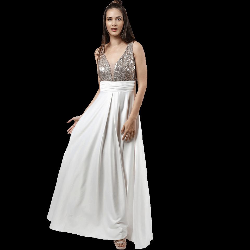 7174fd7d9861 Maxi φόρεμα με παγιέτες στο μπούστο
