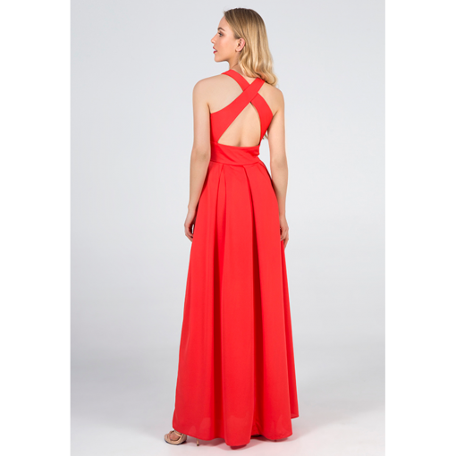 Maxi dress with lace open back