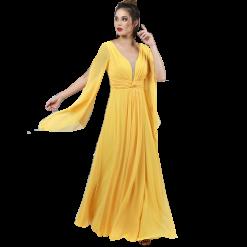 Maxi φόρεμα καφτάνι με άνοιγμα στα μανίκια