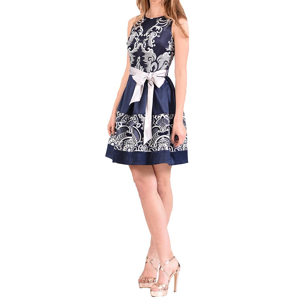 Mini φόρεμα σε Α γραμμή με άσπρη δαντέλα