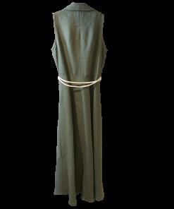 Sleeveless long dress - buttons with buttons