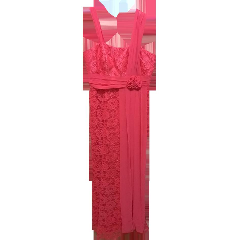 Maxi φόρεμα δαντέλα με τιράντες μουσελίνα
