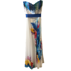 Maxi φόρεμα strapless με extra τιράντες