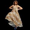 Asymmetric maxi leopard dress