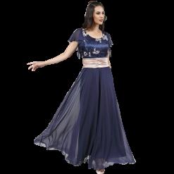 Maxi αέρινο φόρεμα με extra πλατιά ζώνη