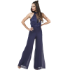 Airy jumpsuit with shoulder strap