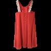 Short muslin dress in wide line