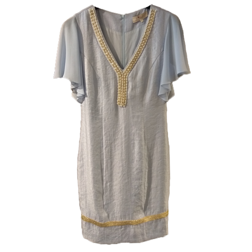 Mini φόρεμα με πέρλες στην λαιμόκοψη