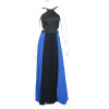 Maxi pleated two-tone dress with openings