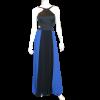 Maxi πλισέ δίχρωμο φόρεμα με ανοίγματα