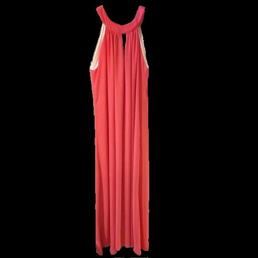 Maxi φόρεμα ριχτό με παρτούς ώμους
