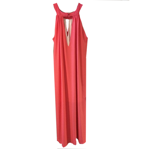 Maxi dress in wide line with bare shoulders