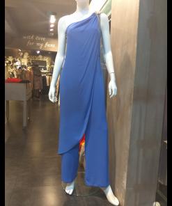 Ολόσωμη φόρμα με ένα ώμο και κόσμημα