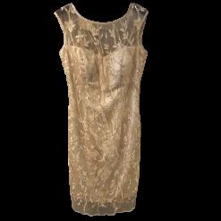 Mini φόρεμα με χρυσές κεντημένες παγιέτες