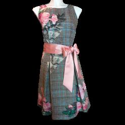 Mini φόρεμα καρό σε Α γραμμή