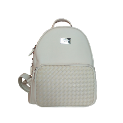 Monochrome backpack with adjustable straps