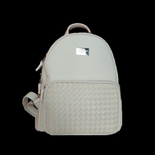 Μονόχρωμο backpack με ρυθμιζόμενα λουράκια