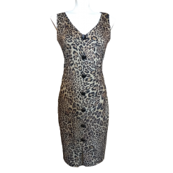 Short straight leopard dress
