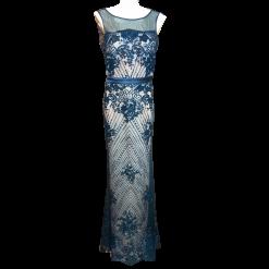Maxi φόρεμα με strass και διαφάνεια