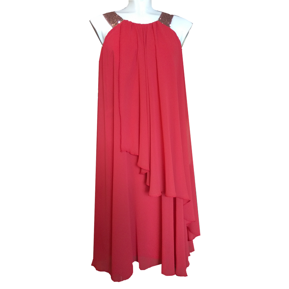 ee3a92ed069c Κοντό φόρεμα μουσελίνα σε φαρδιά γραμμή