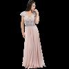 Maxi dress with muslin braces