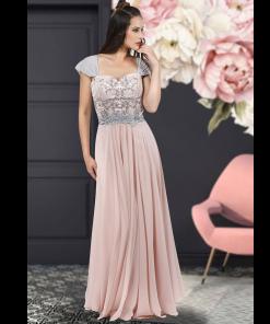 Maxi φόρεμα με τιράντες από μουσελίνα