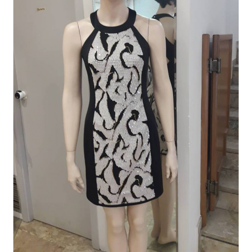 Mini dress with strass