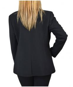 Γυναικείο σακάκι μαύρο μεσάτο