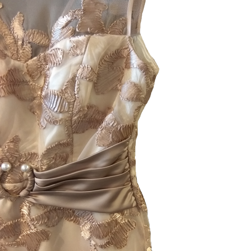 Κοντό αμπιγιέ φόρεμα σε ίσια γραμμή
