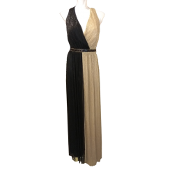 Maxi two-color open-top dress