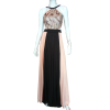 Maxi πλισέ φόρεμα με strass στο μπούστο