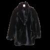 Γούνα γυναικεία με μικρό γιακά και τσέπες