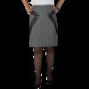 Κοντή φούστα με δερμάτινες λεπτομέρειες