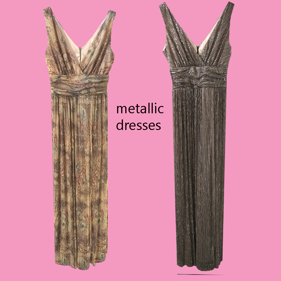 Metallic dresses: The trend continues