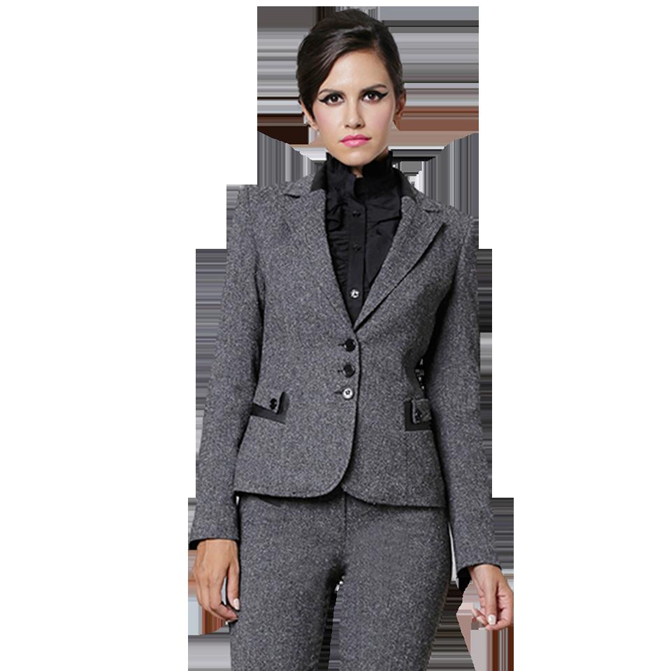 Γυναικείο tweed σακάκι με δέρμα στον γιακά