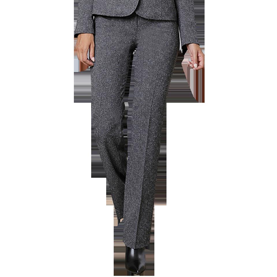 Γυναικείο παντελόνι με δέρμα και κουμπιά