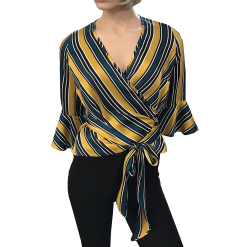 Striped shirt with sleeves 3/4