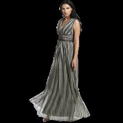 Maxi striped metallic dress