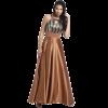 Maxi φόρεμα με παγιέτες και άνοιγμα στο μπούστο